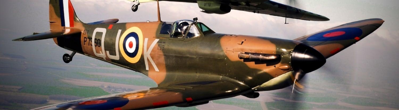 Spitfires flying over meadows | Spitfire Inbound Marketing