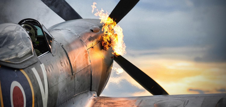 Spitfire flying into the sunrise | Spitfire Inbound | Game changing digital marketing that works